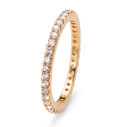 Prsten s krystaly Swarovski Oliver Weber 63225GL-001