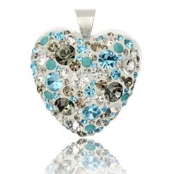 St��brn� p��v�sek s krystaly Swarovski Aquarius Diamond Heart
