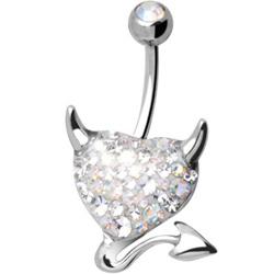 Piercing s krystaly Swarovski AXDEVILHEART-B