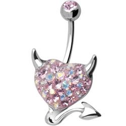 Piercing s krystaly Swarovski AXDEVILHEART C