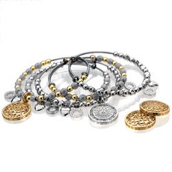 Obrázek è. 2 k produktu: Ocelový náramek Hot Diamonds Emozioni Faux Mother of Pearl Gold