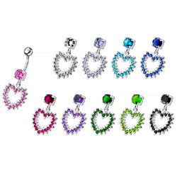 St��brn� piercing do pup�ku srdce BP01004