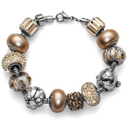 Obrázek č. 1 k produktu: Přívěsek s krystaly Swarovski Oliver Weber Match Pearl Gold