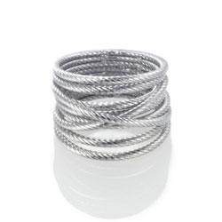 Prsten Cartel Twist Silver