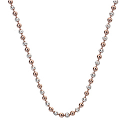 Støíbrný øetízek Hot Diamonds Emozioni Bead Silver Rose 45