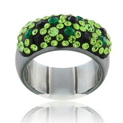 Prsten s krystaly Swarovski Hematit Chameleon Large