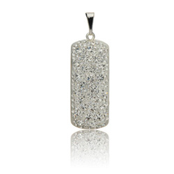 Støíbrný pøívìsek s krystaly Swarovski Crystallis Ortangula
