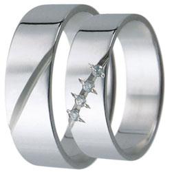 Snubní prsteny kolekce D1