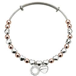 Obrázek č. 3 k produktu: Ocelový náramek Hot Diamonds Emozioni Heart Rose and Silver