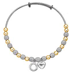 Obrázek è. 4 k produktu: Ocelový náramek Hot Diamonds Emozioni Ula Yellow and Silver