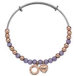 Obrázek è. 2 k produktu: Ocelový náramek Hot Diamonds Emozioni Rose Gold and Purple