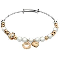 Ocelový náramek Hot Diamonds Emozioni Faux Mother of Pearl Rose Gold