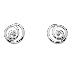 Støíbrné náušnice Hot Diamonds Eternity Spiral Stud DE306
