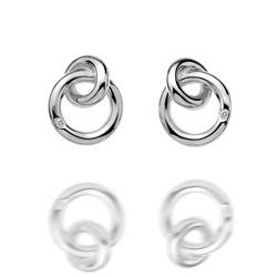 Støíbrné náušnice Hot Diamonds Eternity Interlocking Silver Stud DE308