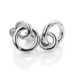 Obrázek č. 1 k produktu: Stříbrné náušnice Hot Diamonds Eternity Interlocking Silver Stud DE308