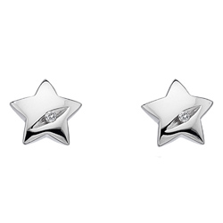 Støíbrné náušnice Hot Diamonds Shooting Stars DE323