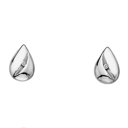 Støíbrné náušnice Hot Diamonds Shooting Stars Teardrop DE324