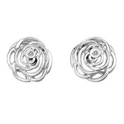 Stříbrné náušnice Hot Diamonds Eternal Rose Stud