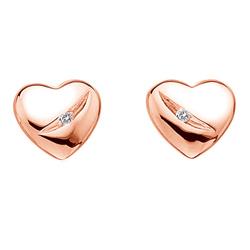 náušnice srdce Hot diamonds de361