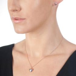 Obrázek è. 2 k produktu: Støíbrné náušnice Hot Diamonds Shooting Stars Heart Rose Gold