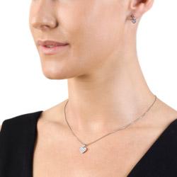 Obrázek č. 1 k produktu: Stříbrné náušnice Hot Diamonds Stargazer Heart