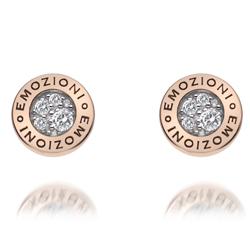 Obrázek č. 2 k produktu: Stříbrné náušnice Hot Diamonds Emozioni Pianeta Rose Gold