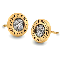 Støíbrné náušnice Hot Diamonds Emozioni Pianeta Gold