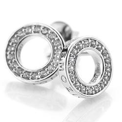 Obrázek è. 6 k produktu: Støíbrné náušnice Hot Diamonds Emozioni Saturno Clear