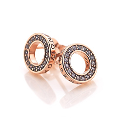 Obrázek č. 3 k produktu: Stříbrné náušnice Hot Diamonds Emozioni Saturno Rose Gold
