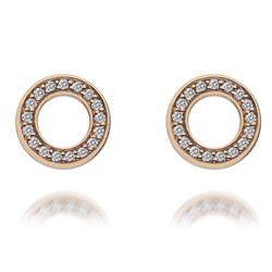 Obrázek è. 6 k produktu: Støíbrné náušnice Hot Diamonds Emozioni Saturno Rose Gold