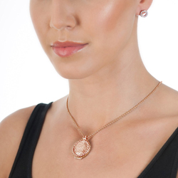 Obrázek è. 8 k produktu: Støíbrné náušnice Hot Diamonds Emozioni Saturno Rose Gold