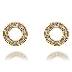Obrázek è. 4 k produktu: Støíbrné náušnice Hot Diamonds Emozioni Saturno Gold