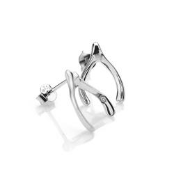 Obrázek è. 2 k produktu: Støíbrné náušnice Hot Diamonds Wishbone