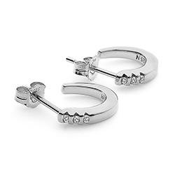 Obrázek è. 2 k produktu: Støíbrné náušnice Hot Diamonds Halo Crescent