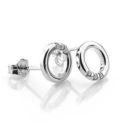 Obrázek è. 2 k produktu: Støíbrné náušnice Hot Diamonds Halo Circle