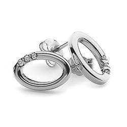 Obrázek è. 2 k produktu: Støíbrné náušnice Hot Diamonds Halo Oval