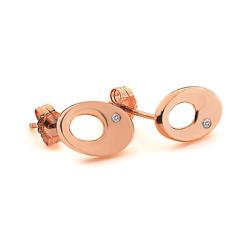 Obrázek è. 2 k produktu: Støíbrné náušnice Hot Diamonds Emerge Oval Rose Gold