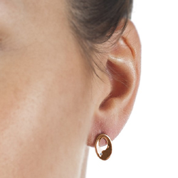 Obrázek è. 4 k produktu: Støíbrné náušnice Hot Diamonds Emerge Oval Rose Gold
