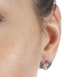 Obrázek è. 4 k produktu: Støíbrné náušnice Hot Diamonds Emerge Heart
