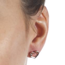 Obrázek è. 4 k produktu: Støíbrné náušnice Hot Diamonds Emerge Heart Rose Gold