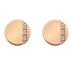 St��brn� n�u�nice Hot Diamonds Silhouette Circle Rose Gold