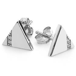 Obrázek è. 2 k produktu: Støíbrné náušnice Hot Diamonds Silhouette Triangle