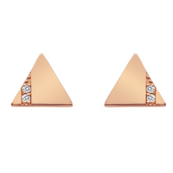 Støíbrné náušnice Hot Diamonds Silhouette Triangle Rose Gold