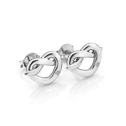 Obrázek è. 2 k produktu: Støíbrné náušnice Hot Diamonds Infinity Heart