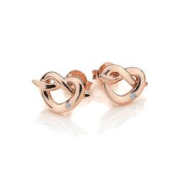 Obrázek è. 2 k produktu: Støíbrné náušnice Hot Diamonds Infinity Heart Rose Gold