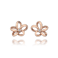 Støíbrné náušnice Hot Diamonds Paradise Rose Gold