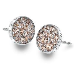 Støíbrné náušnice Hot Diamonds Emozioni Scintilla Champagne