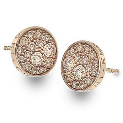 Støíbrné náušnice Hot Diamonds Emozioni Scintilla Champagne Rose Gold