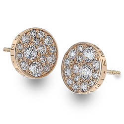 Støíbrné náušnice Hot Diamonds Emozioni Scintilla Rose Gold
