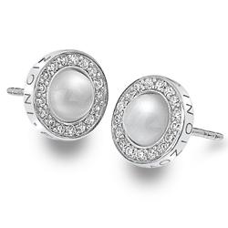 Støíbrné náušnice Hot Diamonds Emozioni Giove Pearl